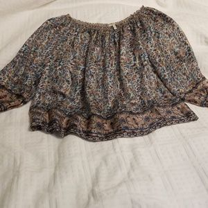 Joie floral 3/4 sleeve top size small